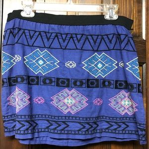 American eagle blue embroidered skirt